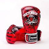 Faux Cuir Boxing Gloves,Gants Professionnels Muay Thai Sanda, Hommes et Femmes Jouant...