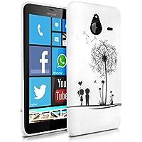 kwmobile CUSTODIA IN TPU silicone per Microsoft Lumia 640 XL Design soffione amore nero bianco - Stilosa custodia di design in morbido TPU - Xl Silicone