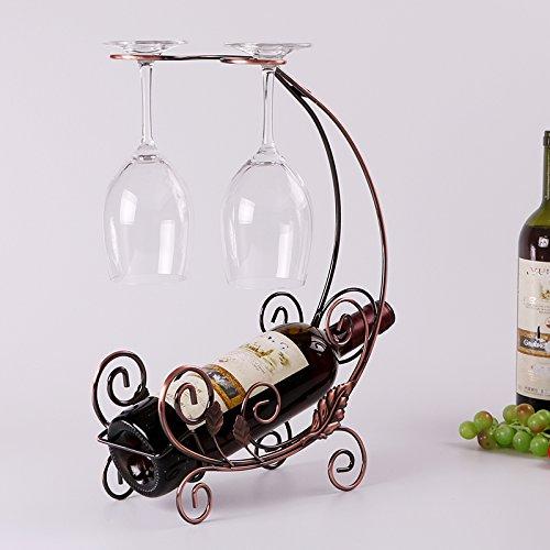 Espresso-wein-cabinet (aufgehängt Creative Wein Rack Weinregal Stemware Racks oro)