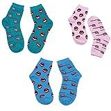 OOFAYHD Ski Socken, warme Lange Brüste Persönlichkeit Lip Zahnbürste Socken Mischgewebe Outdoor Winter für Teenager und Studenten Socken 3 Paar,D