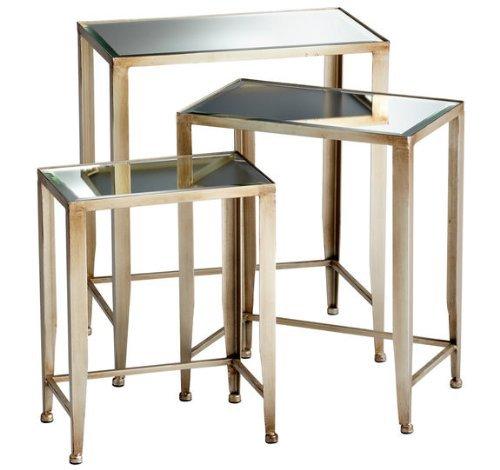 Cyan Designs 05475Harrow Satztische Nesting Tables ideal Geschenk für Hochzeit, Floral/Bodenvase, Party, HOME DECOR, Büro, SPA