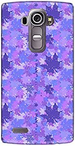 The Racoon Lean printed designer hard back mobile phone case cover for LG G4. (Lilac Fall)