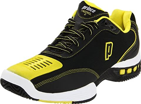 Prince Mens Black/Yellow Rebel 2 LS Tennis Shoes [8P383084] - UK 8 EU 42