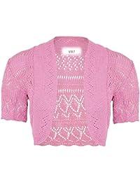 VR7 New Kids Girls Bolero Knitted Cardigan Shrugs Top Age  2 3 4 5 6 ffb82c8c1