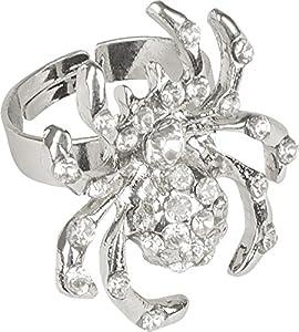 Boland Araña en forma de anillo con piedras preciosas falsas de Halloween