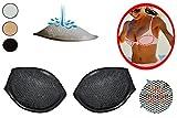 alles-meine.de GmbH 2 er Set - BH Einlagen / Schalen aus Silikon - mit Push up Effekt - Brusteinlage & Einlage - Größe S - in Schwarz
