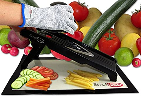SimpliFine Mandoline Slicer and Chopper. Best for Making Quick and Healthy Salads - Fruit and Vegetable Cutter – Professional Mandolin Slicer - Makes A Great