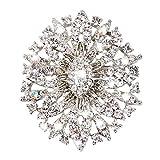 53f603b080c0 Trifycore Broche de la Flor Oval Crystal Rhinestone Elegante Novia de la Flor  Broche de joyería