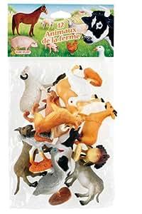 Cofalu Kim'Play - Figurine - Animal - 12 X Animaux De Ferme