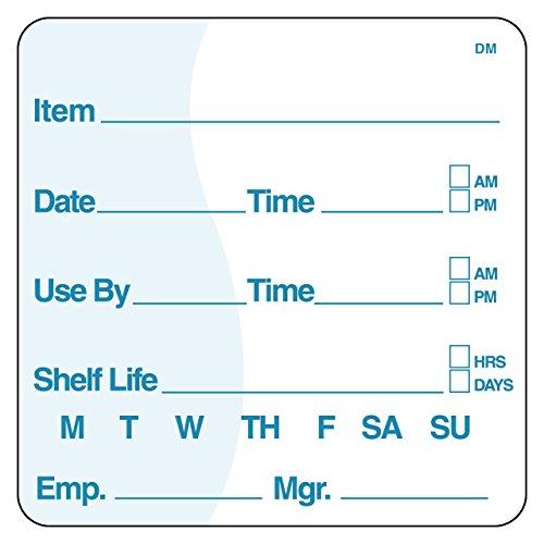 """Sistemas de seguridad DayMark it113830dissolvemark artículo/fecha/uso por etiqueta soluble, 3""""x 3"""", 200por rollo, 2 Inches x 2 Inches"""