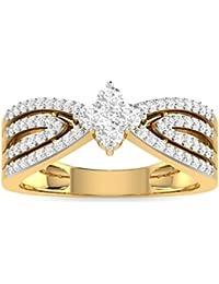 PC Jeweller The Destina 18KT Yellow Gold & Diamond Rings