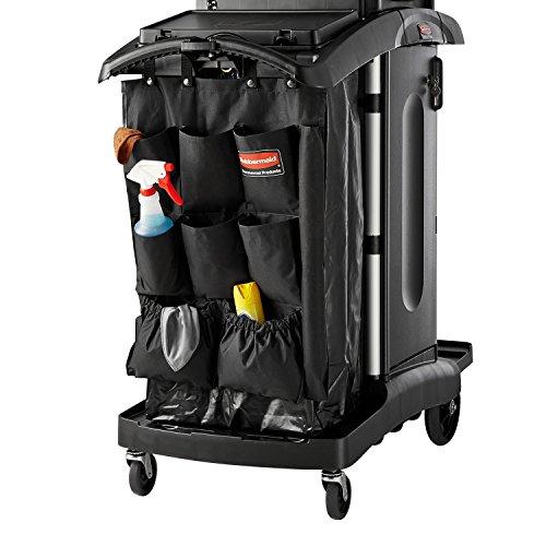 Rubbermaid FG9T9000BLA 9 Pocket Executive Organizer Hanging Cart Caddy, 28 Inch x 19.75 Inch x 19.75 Inch, Black