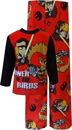 Star-Wars-Little-Boys-Star-Wars-Angry-Birds-Luz-saber-acogedor-forro-polar-pijama-Set