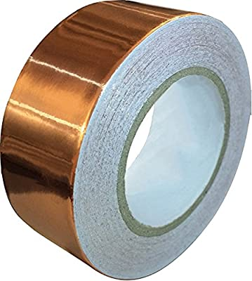 Copper Foil Tape with Conductive Adhesive (25mm X 11meters) - Slug Repellent, EMI Shielding, Stained Glass, Paper Circuits, Electrical Repairs, Crafts - Extra Long Value Pack – Great Introductory Price