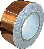 Kupferfolienband mit leitendem Klebstoff (25mm x 11Meter)– Schnecken-abweisend, EMI-Abschirmung, gebeiztes Glas, Papier-Schaltkreise, Elektro-Reparaturen, Bastelarbeiten