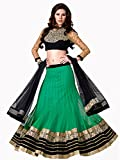 Admyrin women's Net Embroidered Green Le...