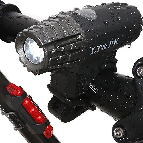 Fahrrad Licht LED Set Fahrradbeleuchtung Aufladbar - USB Fahrradlicht hinten Fahrrad Frontlicht Rücklicht Beleuchtung Fahreadlampe Akku Wasserdicht Mountainbike Rennrad Für Herren Damen Kinder
