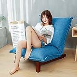 T-Z Familienhilfsmittel Faules Sofa Boden Stuhl Klappbarer Stuhl Einzelner Schlafsaal Schlafzimmer Bett Computer Stuhl Klappbarer Einfacher Rückfenster Stuhl Faules Sofa, Blau