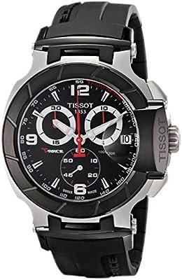 Tissot T-RACE T0484172705700 - Reloj de caballero de cuarzo, correa de caucho color negro