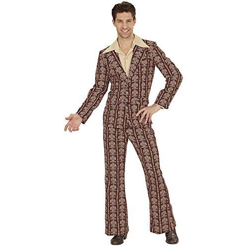 Widmann 08953 Erwachsenenkostüm 70's Anzug, Large (School Disco Fancy Dress Kostüm)