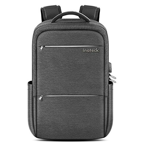 5f3b8a57f0 Inateck Laptop Backpack with USB Charging Port, Anti-Theft School Bag  Business Travel Backpack