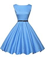 GRACE KARIN® 50s Retro vintage Rockabilly kleid Partykleid Cocktailkleid GD6086