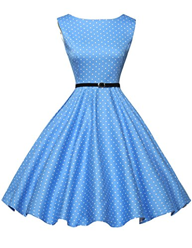 50s dress rockabilly kleid damen motto partykleider cocktailkleider knielang Größe L CL6086-1