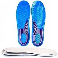 Soumit® Flessibile Morbido Traspirante Blu Gel di Silicone Sport di Solette con Assorbimento di Scossa, Migliore Rilievo di Dolore Piedi e Riduzione Dello Stress per Uomini e Donne S (27,6cm)