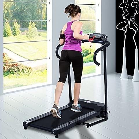 Soozier - Tapis Roulant Elettrico con Schermo LCD Pieghevole 500W fino a 10km - Attrezzature Per Il Fitness Allenamento Tapis Roulant