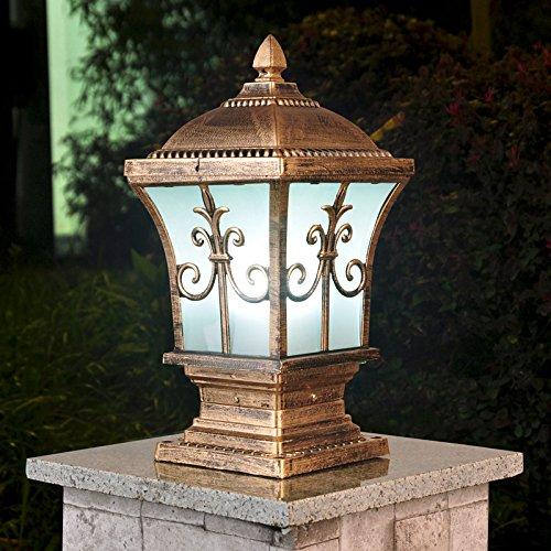 GLCJW Solar-Gartenleuchte,Säule lampenseitig,Deck Beleuchtung,Post Leuchten,Wand Lampen,Gate Haus Abdichtung Wand Gartenleuchten (Solar Gate-leuchten)