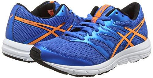 Asics Gel-zaraca 4 Gs, Chaussures de Running Entrainement Mixte adulte Bleu (Electric Blue/Hot Orange/Black 3930)