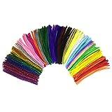 Wartoon 300 pcs varios colores y 100 con purpurina Creative limpiapipas para Manualidades DIY art Craft Decoración chenille Stems (6 mm x 35 cm)
