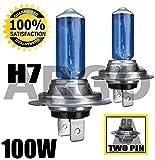 Juego de bombillas de xenón H7 100W para fs delanteros de coche, con luz de gran...