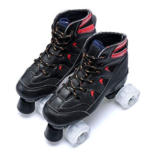 YAOZEDI-RollerSkates Patines, Patines de Ruedas de Doble Fila para Adultos Patines de Cuatro Ruedas para niños, Hombres y Mujeres Patines de Ruedas