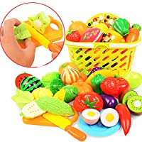 Cutting Play Vegetables And Fruits Kids Plastic Vegetable Fruit Toy Simulation Fruits Toys Set