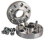 Hofmann Spurverbreiterung Aluminium 2 Stück (passend für die 6-Loch Felge) (30 mm pro Scheibe / 60 mm pro Achse) inkl. TÜV-Festigkeitsgutachten