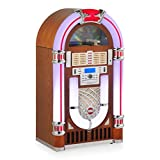 Ricatech RR2100 XXL Light Wood Classic LED Jukebox (CD-Player, Radio, MP3, USB, SD-Kartenslot, Audio, Remote Control)