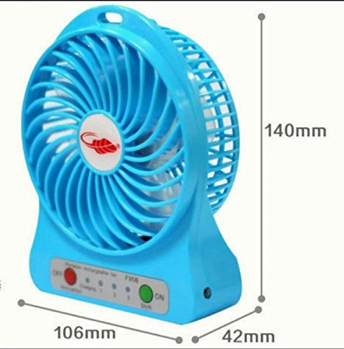 Portable Fan Mini Usb Rechargeable Fan(Black)