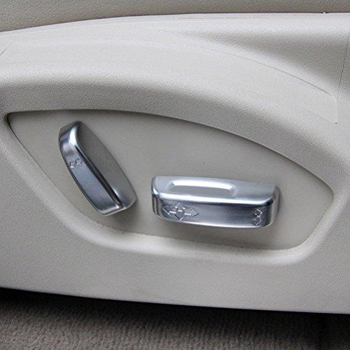 ABS matt chrom Sitz Anpassung Button Abdeckung Besatz für XC60V60V40S60S80C30C70Zubehör Auto Styling
