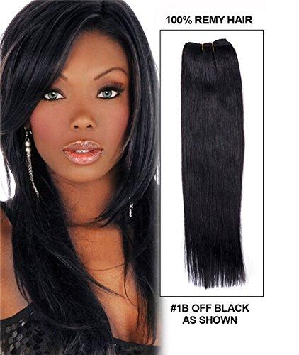 Romantic Angels®100% Remy longue ligne droite prolongation de cheveux humains de trame 50cm naturel noir#1b 100g