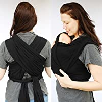 Baby Wrap, Sling , Carrier 0-3yrs with carry case - (Black)