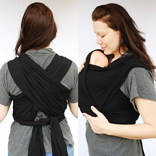 baby-wrap-sling-carrier-0-3yrs-with-carry-case-black