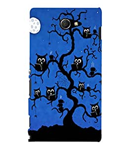 printtech Scholar Owl Tree Back Case Cover for Sony Xperia M2