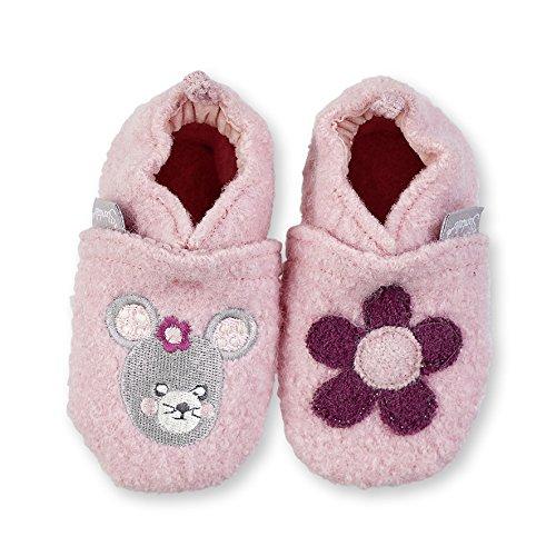 Sterntaler Krabbelschuh, Chaussons pour enfant bébé fille Rose - Pink (kirschblüte 765)
