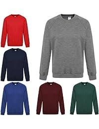 New Boys Jumper Sweatshirt Crew Round Neck School Uniform Black PE 3-4 Years