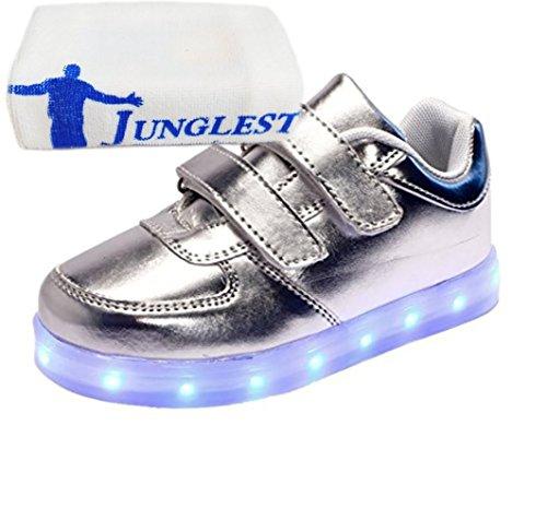 kleines Bunte present junglest® Sneakers Mdchen Kinder Athletische Leuchtet Silber Handtuch Jungen Sportschuhe Led fwBqdw