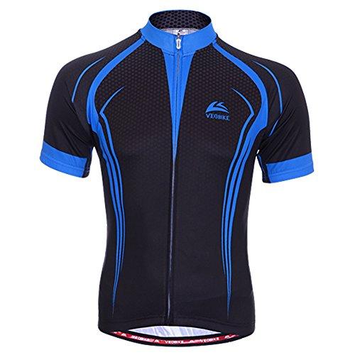 dopobo-sport-maillots-noirbleu-manches-courtes-homme-respirable-chemise-pour-cyclisme-vtt-sport-de-p