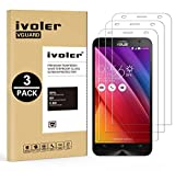 [Lot de 3] ASUS ZenFone 2 5.5'' Ze550ml / Ze551ml Protection écran, VGUARD Film Protection d'écran en Verre Trempé Glass Screen Protector Vitre Tempered pour ASUS ZenFone 2 5.5'' Ze550ml / Ze551ml - Dureté 9H, Ultra-mince 0.30 mm, 2.5D Bords Arrondis- Anti-rayure, Anti-traces de Doigts,Haute-réponse, Haute transparence- Garantie de Remplacement de 18 Mois