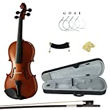 Kinglos PJCJ-1001 1/8 Solid Wood Student Acoustic Violin Fiddle Starter Kit