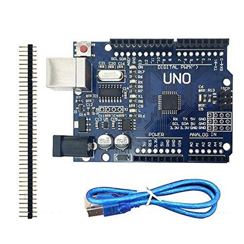 SODIAL Mini scheda USB UNO R3 + cavo USB per Arduino ATmega328P CH340G Sostituire ATmega16U2